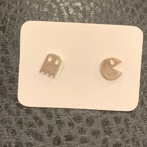 925 silver Pac-Man earrings